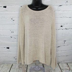 Style & Co Ribbon Knit Open Weave Sweater